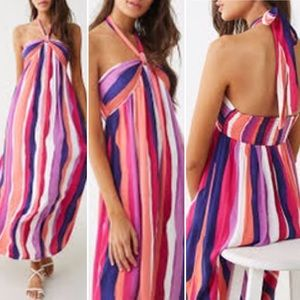 3/$25 Forever 21 - XS - Maxi Dress Halter Tie